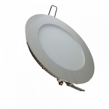 Süvistatav paneel 8W SMD ümar LED 220V Soe valge