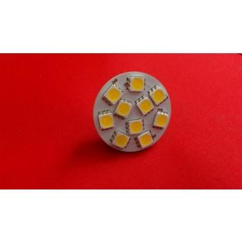 G4 pirn SMD 5050 10 LEDi 2W 12V 2800K Soe valge
