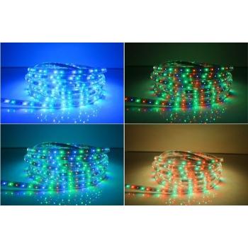 Riba painduv 3528 SMD 60LEDi/m IP65 220V RGB