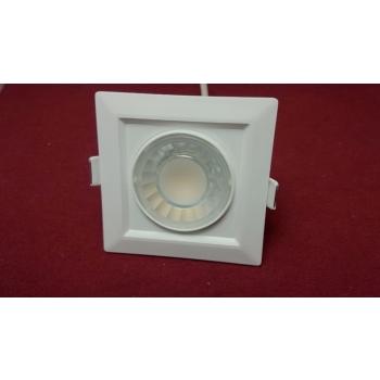 LED Süvistatav valgusti kandiline 8W 220V Soe valge