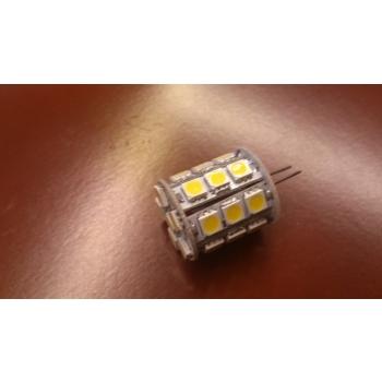 G4 pirn SMD 5050 27 LEDi 4W 12V 2800K Soe valge