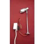 Vitriinivalgusti 1W hõbedane tugialusega 220V