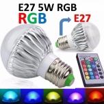 E27 Ümarpirn 5W RGB