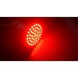 GU10 Kohtpirn SMD 3528 48 LEDi 3W 220V 50mm Punane